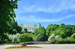 Ujazdowski Castle. In Warsaw. Summer south facade view royalty free stock images