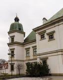 Ujazdowski kasztel w opóźnionej zimie Miasto Warszawa, Polska fotografia royalty free