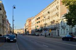 Ujazdowskie Avenue in Warsaw (Poland) Stock Image