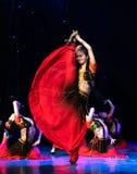 Ujghurzy róż Xinjiang Uygur taniec zdjęcia royalty free