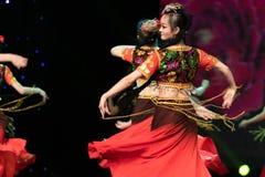 Ujghurzy róż Xinjiang Uygur taniec fotografia royalty free