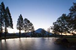Uji Diamond , Sunrise at Top of Mountain Fuji Royalty Free Stock Image