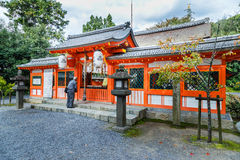 Uji-jinja寺庙在京都,日本 免版税库存图片