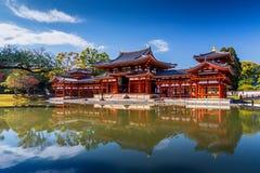 Uji Kyoto, Japan - som är berömd Byodo-i den buddistiska templet Arkivfoto