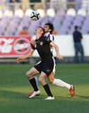 Ujpest对Honved OTP银行同盟足球比赛 免版税库存照片