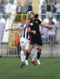 Ujpest对Honved OTP银行同盟足球比赛 免版税库存图片