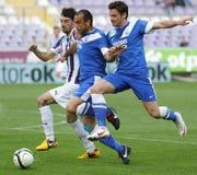 Ujpest对MTK OTP银行同盟足球比赛 库存照片