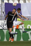 Ujpest vs. DVTK futbolowy dopasowanie Fotografia Stock