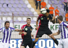 Ujpest vs. Honved OTP Bank League football match Royalty Free Stock Photography