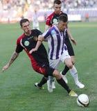 Ujpest vs. Honved OTP Bank League football match Stock Photo