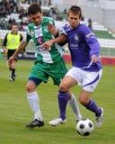 ujpest比赛kaposvar的足球 免版税库存照片