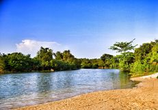 Ujung genteng's river Stock Photos