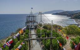 Układ bridżowy stary statek Zdjęcie Stock