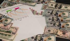 Układ dochodowość i gotówka Obrazy Stock