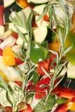 Układ rżnięci warzywa Zdjęcia Stock