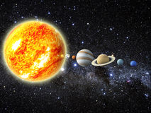 Układ Słoneczny Zdjęcia Stock