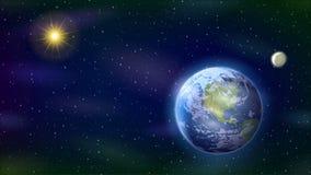 Układ Słoneczny, Bezszwowa pętla ilustracja wektor