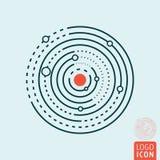 Układ Słoneczny ikona ilustracji