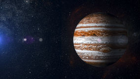 Układ Słoneczny planeta Jupiter na mgławicy tła 3d renderingu Zdjęcie Royalty Free