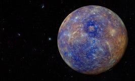 Układ Słoneczny - planeta Mercury royalty ilustracja