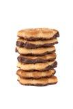 układ scalony czekoladowy ciastek stos Zdjęcie Stock