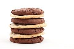 układ scalony czekoladowy ciastek zmroku mleko obrazy royalty free