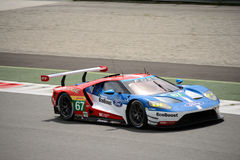 Układ scalony Ganassi Ściga się Ford GT test przy Monza Zdjęcie Royalty Free