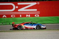 Układ scalony Ganassi Ściga się Ford GT test przy Monza Obrazy Stock