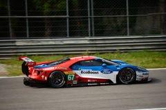 Układ scalony Ganassi Ściga się Ford GT test przy Monza Fotografia Royalty Free