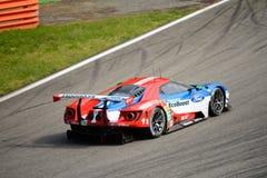Układ scalony Ganassi Ściga się Ford GT test przy Monza Zdjęcia Royalty Free