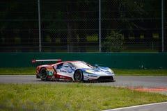 Układ scalony Ganassi Ściga się Ford GT test przy Monza Obrazy Royalty Free