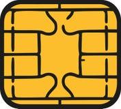 Układ scalony kredytowa karta - sim karty układ scalony royalty ilustracja