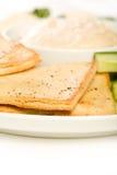 układ scalony pita półmiska warzywo Zdjęcie Stock