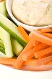 układ scalony pita półmiska warzywo Fotografia Stock