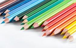 układa kolorów ołówki Zdjęcie Royalty Free