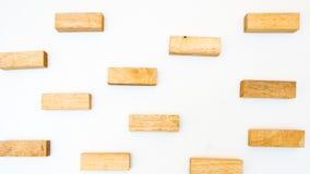 Układający drewnianego bloku sztaplowanie jako kroka schodowy Biznesowy pojęcie dalej Obrazy Stock