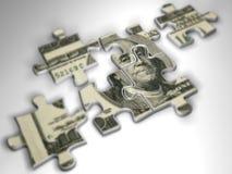 układanki pieniądze Obrazy Stock