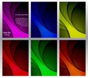 Układu projekta szablon, pokrywy książka, ulotka abstrakcyjny tło Sześć wariantów w różnych kolorach ilustracji