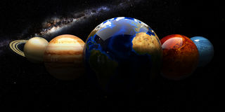 Układu Słonecznego i przestrzeni przedmioty Elementy ten wizerunek meblujący NASA Zdjęcia Stock