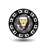 Układu scalonego grzebaka kasynowy Bożenarodzeniowy nowy rok Ikony ilustracja EPS 10 na biały łatwym oddzielać tło use dla miejsc ilustracja wektor