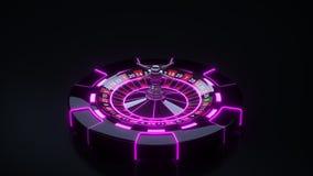 Układy scaleni i Ruletowego koła pojęcia projekt Online Kasynowa Uprawia hazard ruleta - 3D ilustracja ilustracja wektor