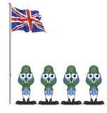 UK żołnierze Obrazy Royalty Free