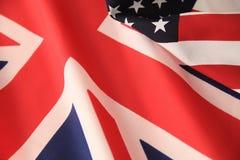 UK και αμερικανικές σημαίες από κοινού Στοκ φωτογραφία με δικαίωμα ελεύθερης χρήσης