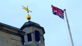 UK, Λονδίνο, σημαία, trevel απόθεμα βίντεο