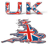UK. Glassy UK text royalty free illustration