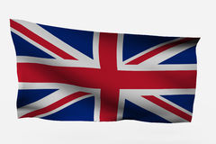 UK 3d flag. Isolated on white background Royalty Free Stock Image