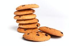 układ scalony czekoladowy ciastek stos Obraz Stock