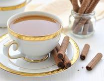 układ scalony czekoladowy kawowy ciastek mleko Zdjęcie Stock