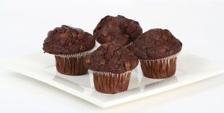 układ scalony czekolady muffins Zdjęcia Stock