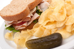 układ scalony kartoflany kanapki indyk Zdjęcia Stock
